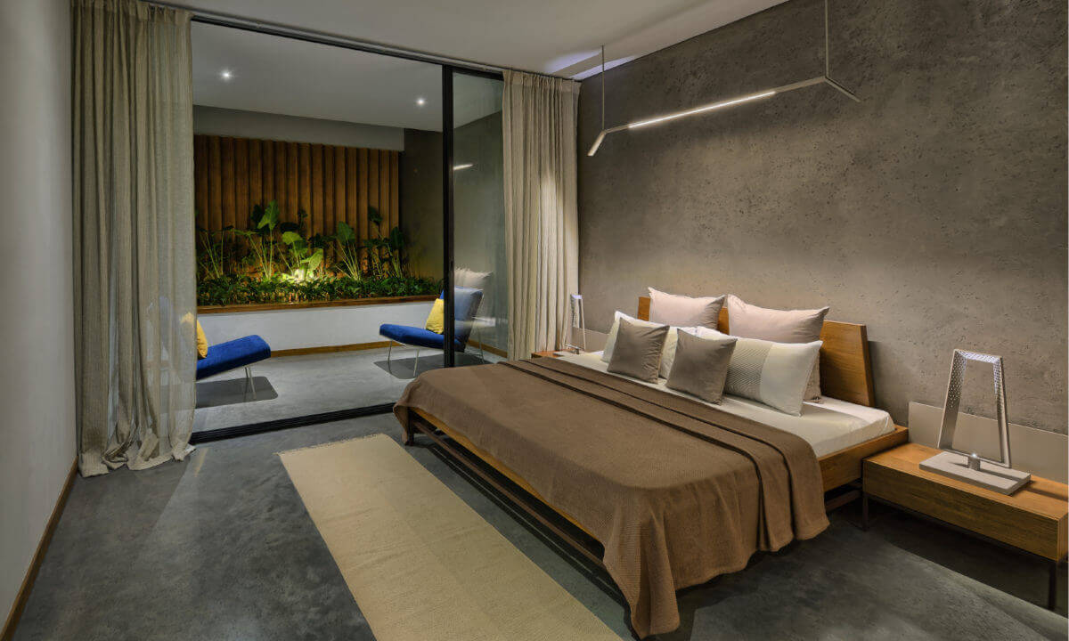 living attached bedroom