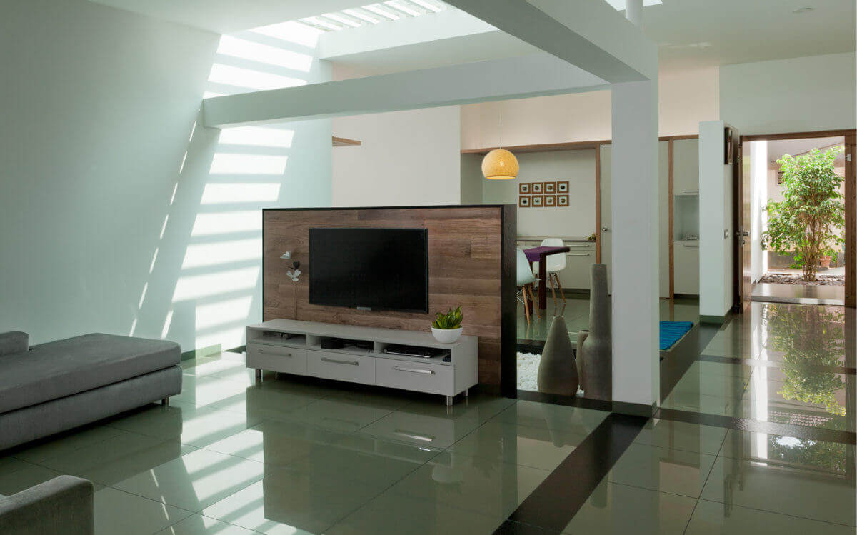 tv area wall design