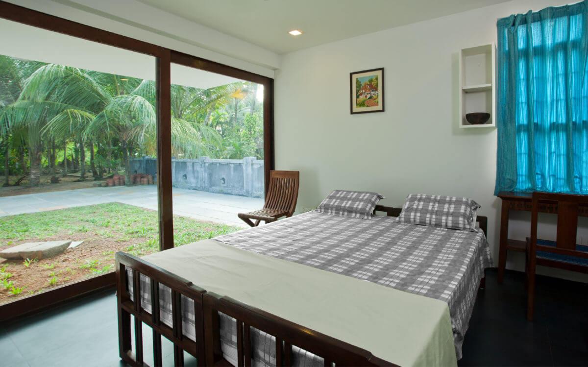 sliding window bedroom
