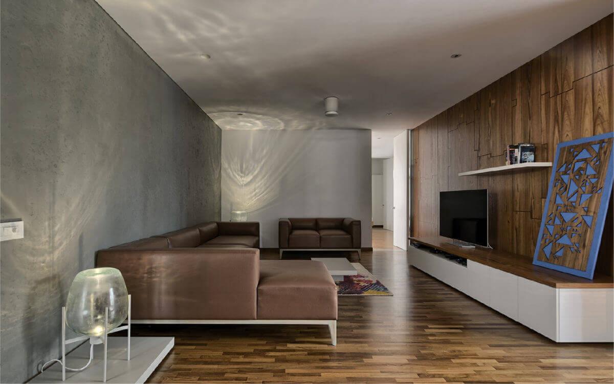 living area wall design