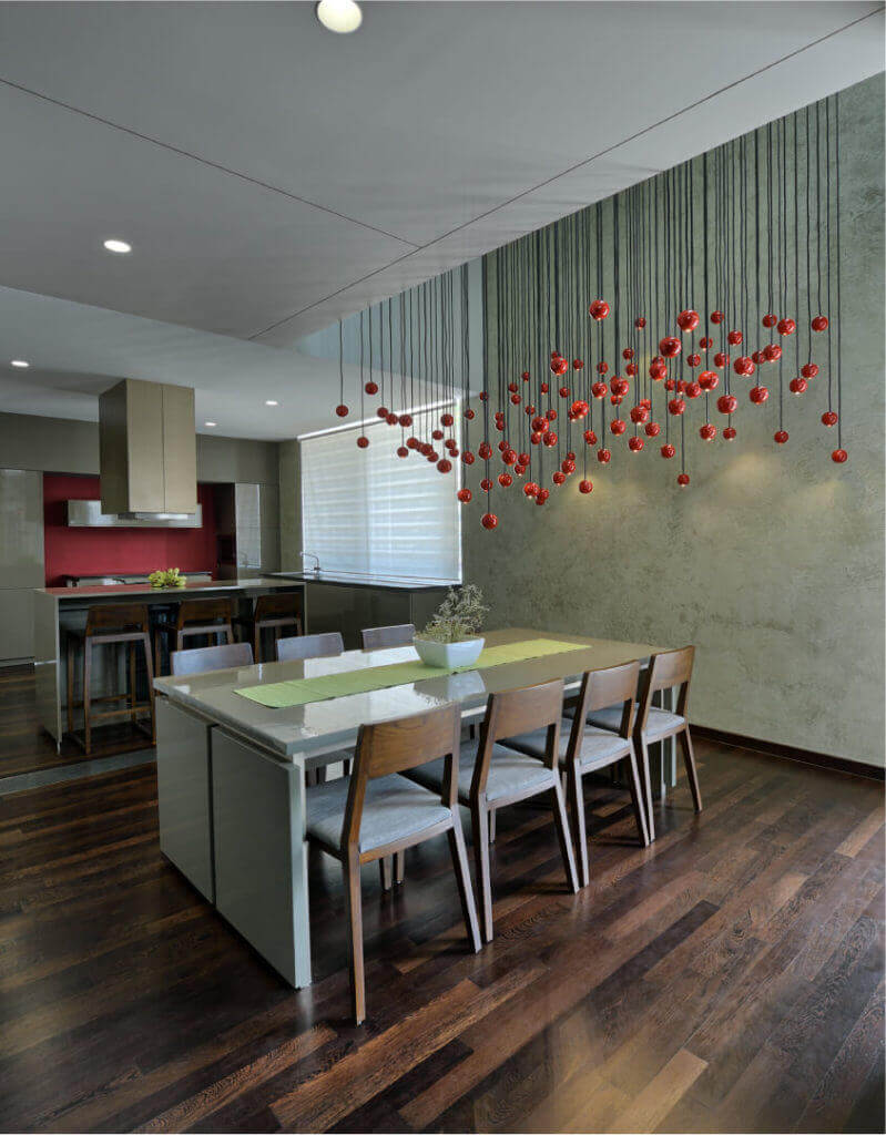 dining attached with kitchen